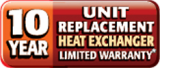 10 Year Unit Heat Exchanger Limited Warranty
